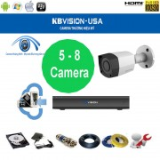 Trọn bộ camera KBVision 8 Kênh KX-1001CS 1.0 Megapixel