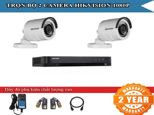 Trọn bộ 2 - 4 camera HIKVISION 2.0mpx cho nhà xưởng